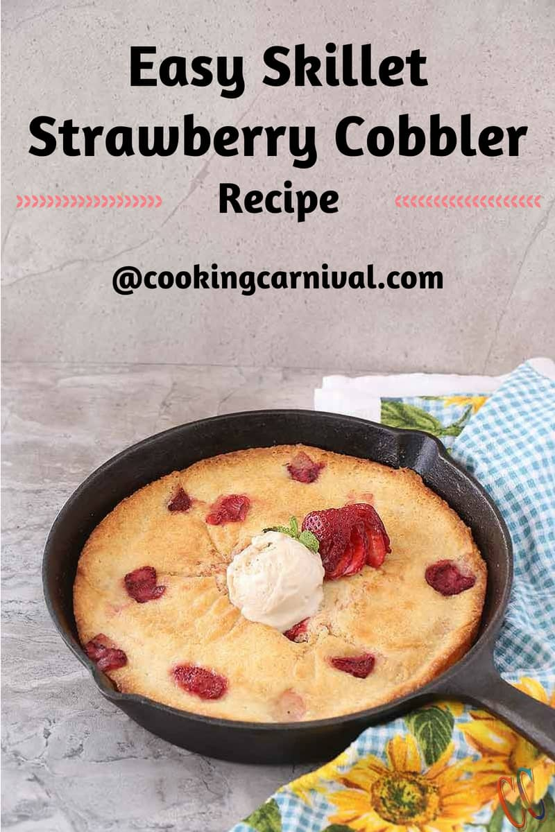 Easy Strawberry Cobbler recipe