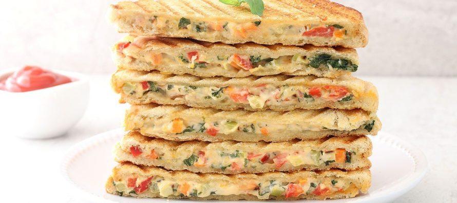 Veg Mayonnaise Grilled Sandwich