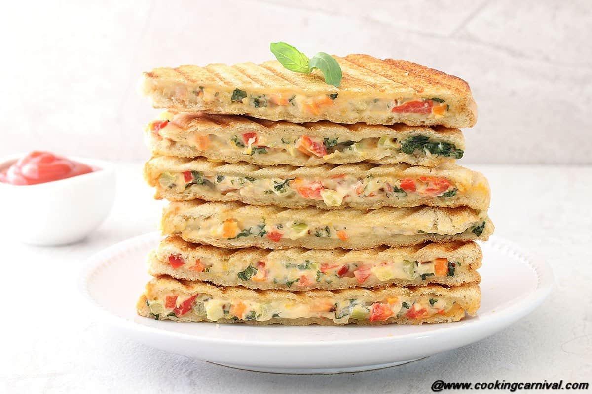 Veg Mayo Grilled Sandwich4
