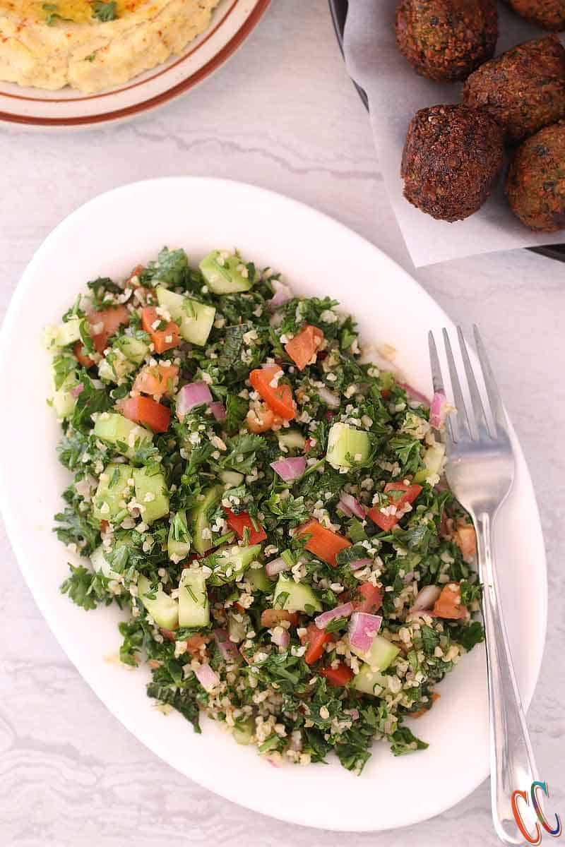 Classic Homemade Tabouli Salad / Tabbouleh Salad / tabouleh / Parsley Salad