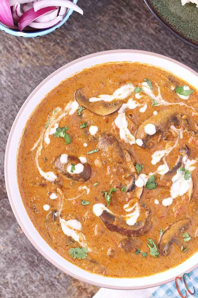 easy and quick mushroom recipe, mushroom recipe Indian style, Mushroom curry recipe, Mushroom Sabzi