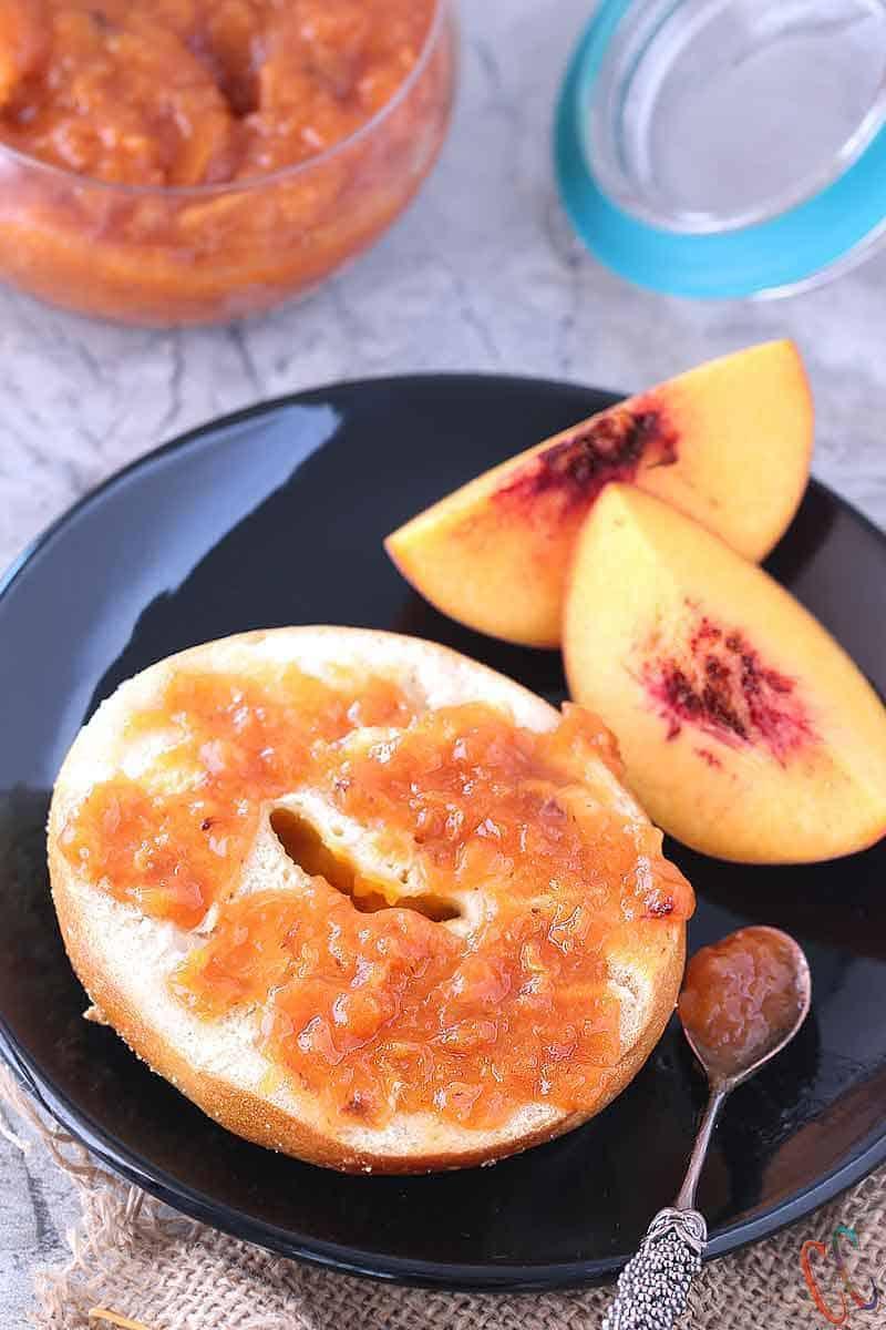 IP recipes / Peach Jam in IP / Peach Jam Recipe / How to make peach Jam
