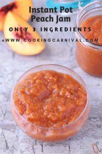 Instant Pot Peach Jam / Peach Jam In Instant pot / Instant Pot Peach Jam