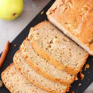 Eggless Apple Pear Cinnamon Bread, apple loaf bread, apple recipes, healthy apple recipes, easy baking, fall recipes, fall baking,