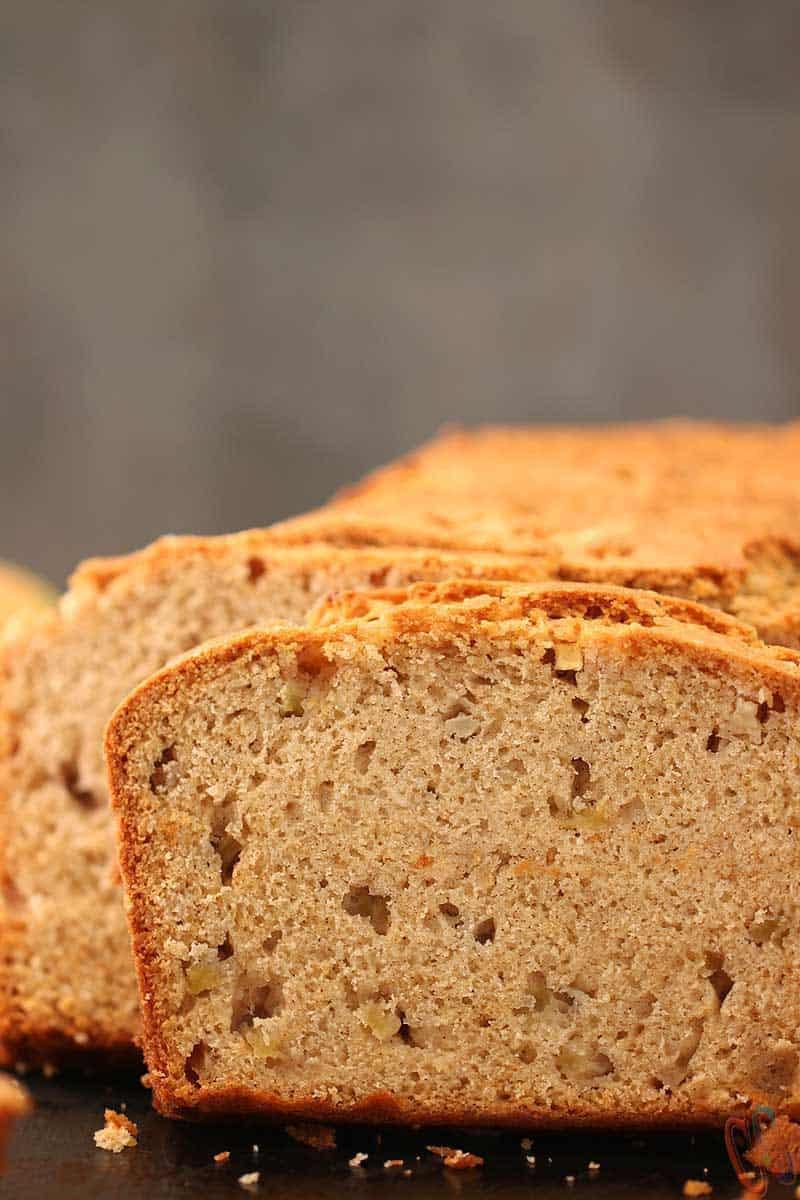 Eggless Apple Pear Cinnamon Bread