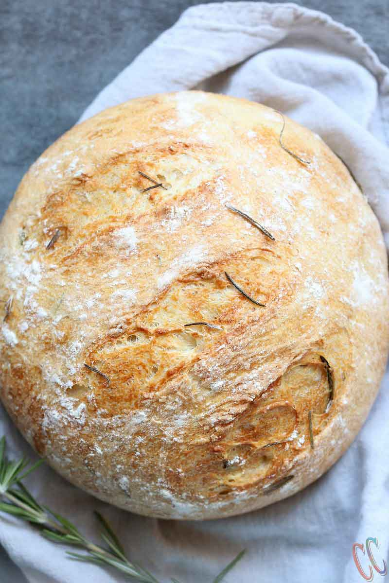 Instant Pot Olive Oil Rosemary No Knead Bread, best no knead bread