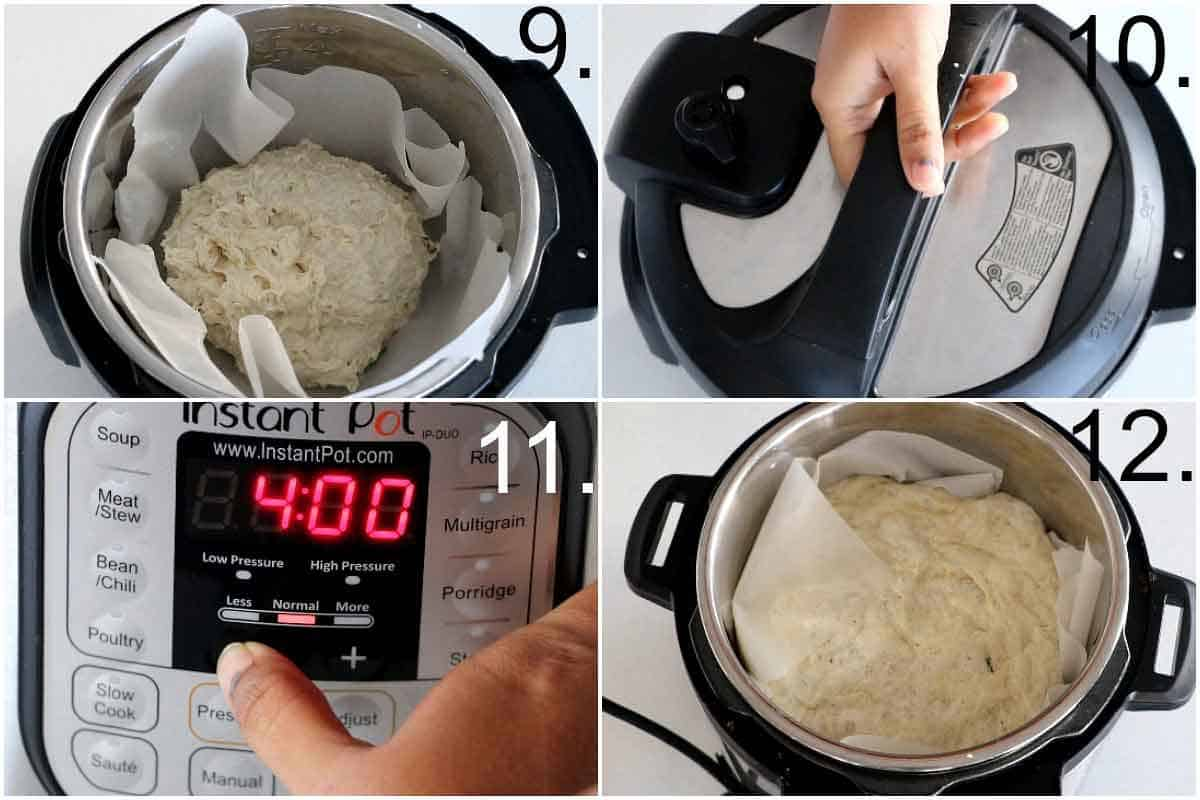proofing the no-knead bread dough in an Instant Pot