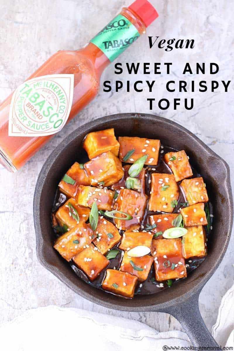 Sweet and spicy crispy tofu 3