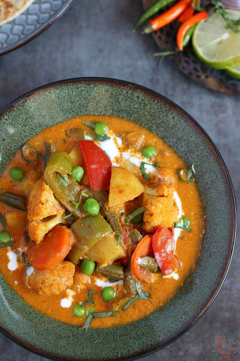 Instant Pot Vegetable Korma, Best Indian Curry recipe, Instant Pot Indian Recipe