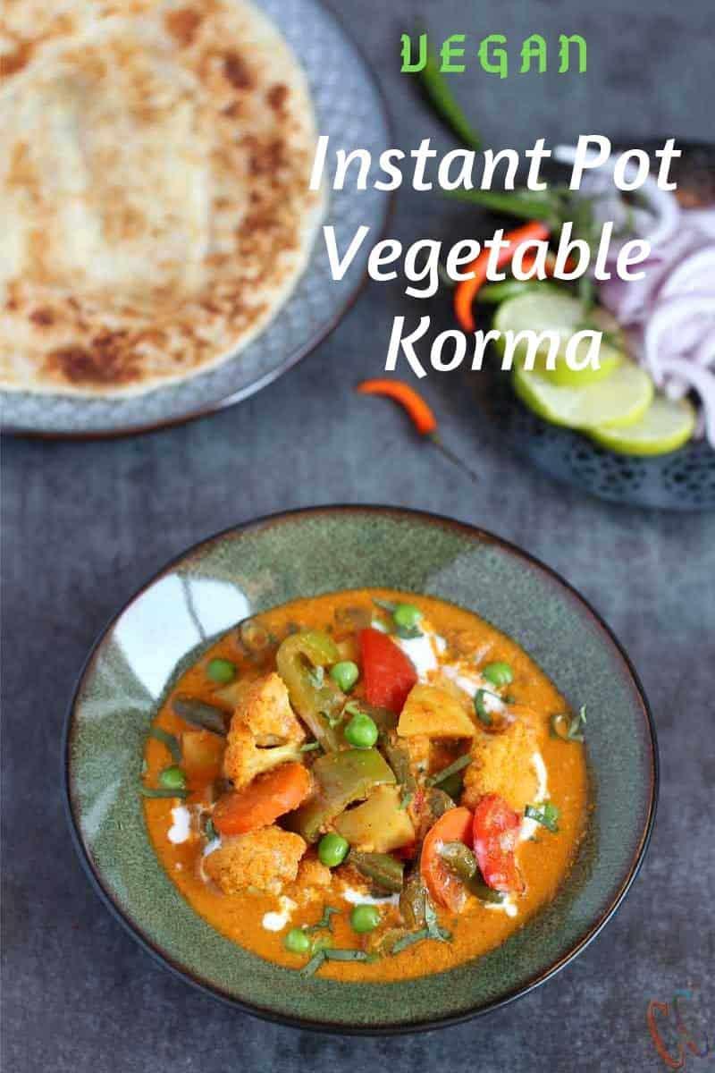 Instant Pot Vegetable Korma, best vegetable korma in pressure cooker