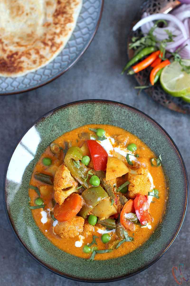 Instant Pot Vegetable Korma, Vegan Instant Pot curry recipe