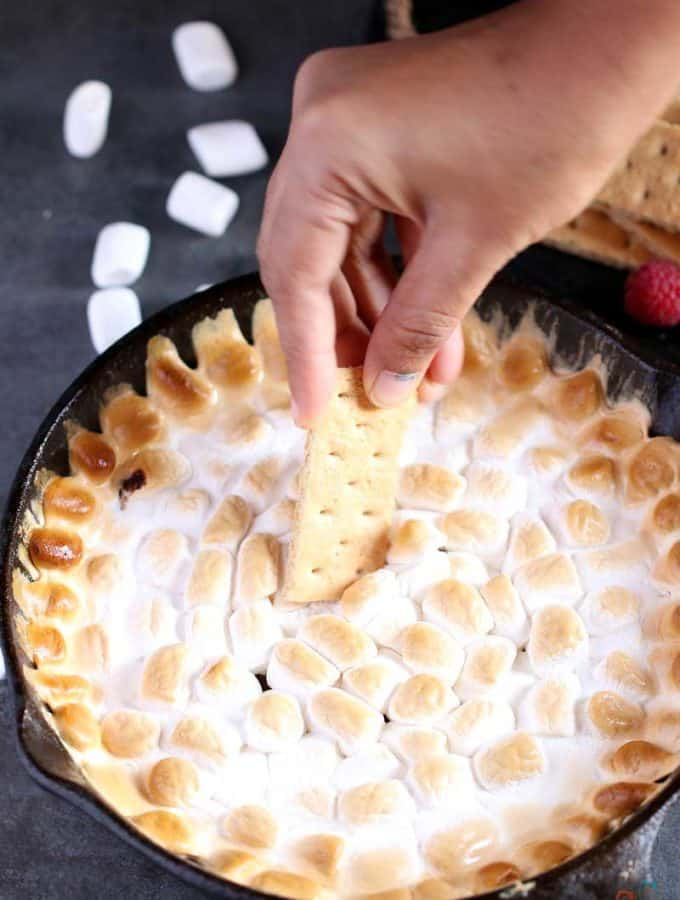 Smore Dip, smores in oven