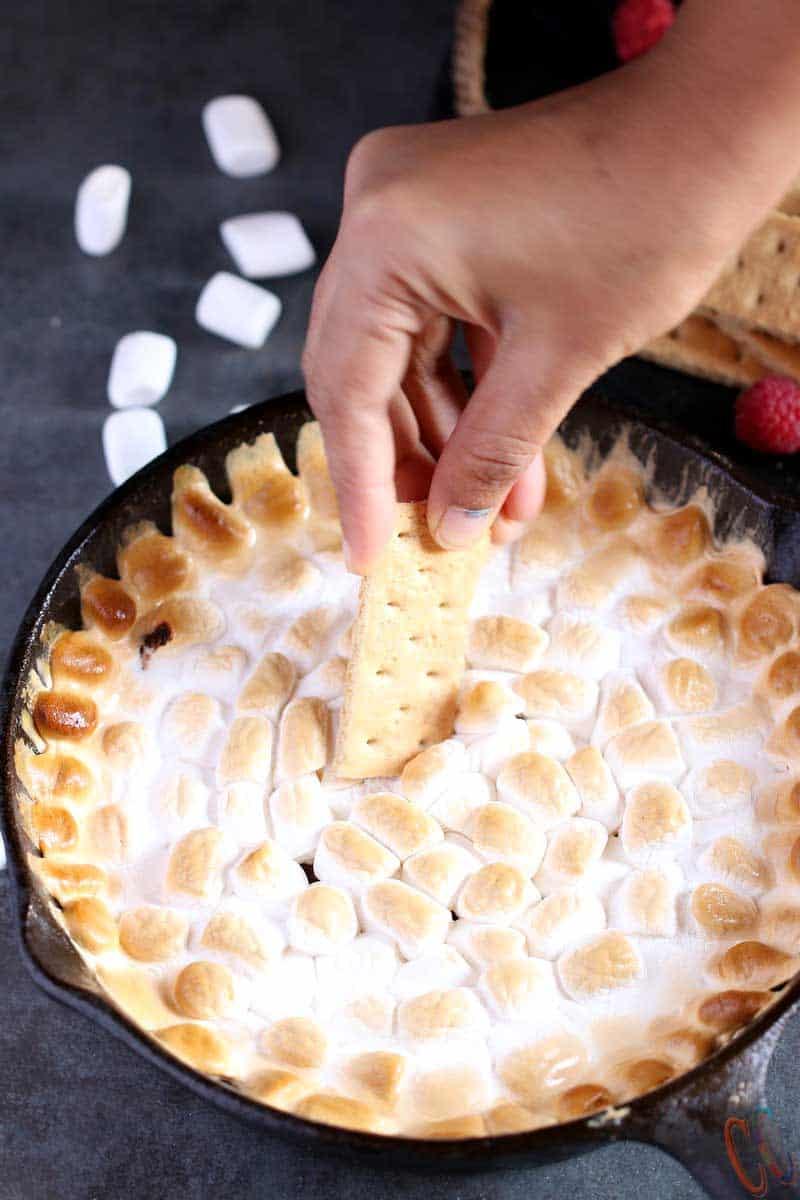Smores Dip, smores in oven