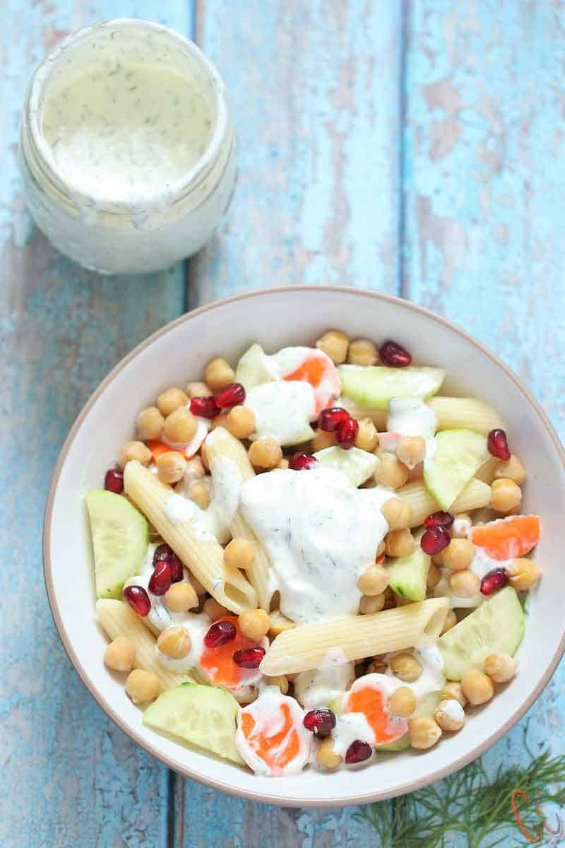 Creamy Dill Sauce | Dill Salad Dressing - Creamy, little bit tangy, light, refreshing and excellent Sauce with lots of fresh Dill. This dill creamy sauce makes a delicious sauce for dipping chips, veggies, pita or as a Salad dressing.