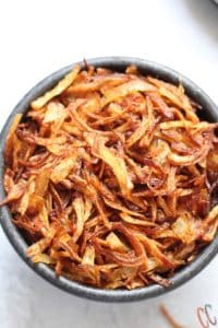 Crispy fried onions for biryani