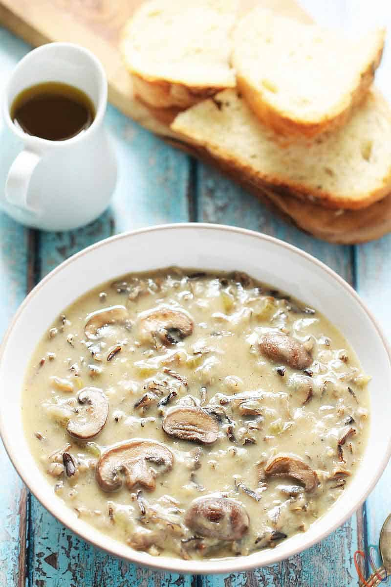 Wild Rice Mushroom Soup - Instant Pot Wild Rice Mushroom Soup - Vegan, Good for you, Perfect for Winter and is just what everyone needs in Winter.