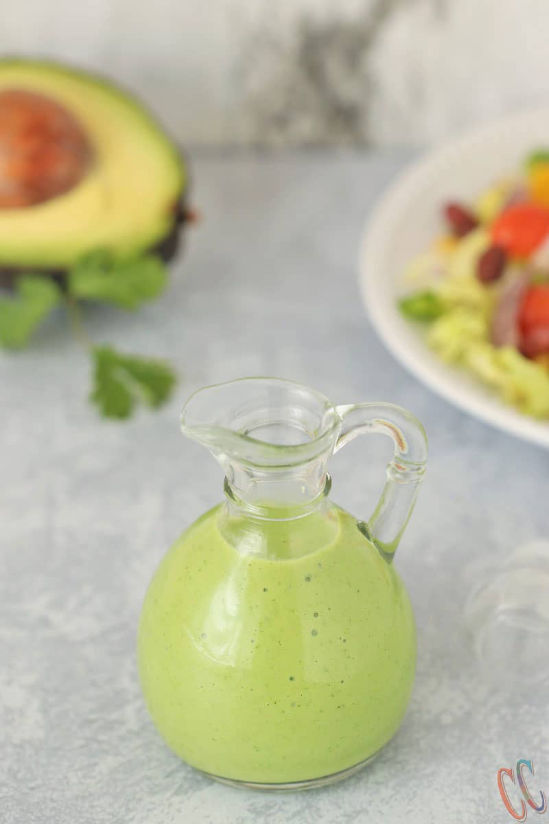Avocado Dressing Recipe - Paleo, Vegan, Whole30 approved, Luxuriously Silky, Creamy, Delicious, Flavorful, Packed with full of healthy fats and Healthy Alternatives to mayonnaise-based dressing. This healthy salad dressing takes only 5 minutes to make.