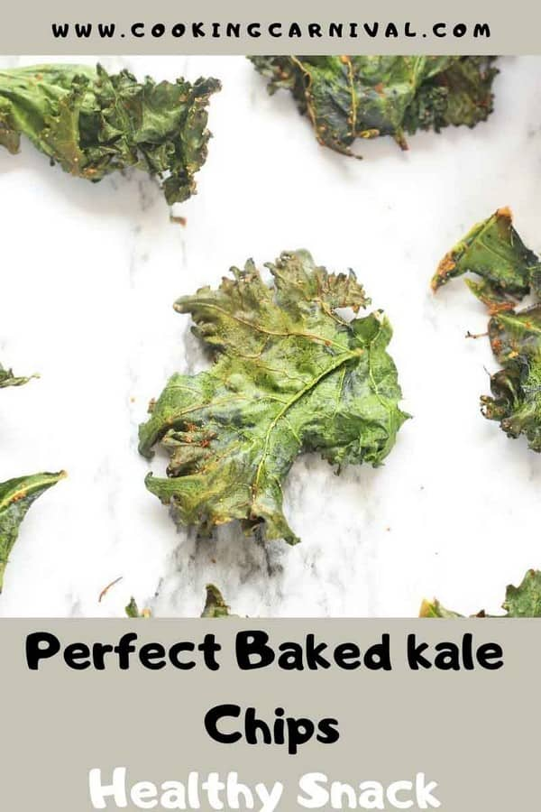 How to make Kale Chips - Baked Kale Chips - Simple, tasty, healthy, Flavorful and versatile snack that can be made at home very easily! These are very addicting healthy snack recipe. Once you start munching on them, you won't stop! So let's learn How To Make Kale Chips In the Oven. :)