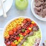 Southwest Salad with avocado dressing 5