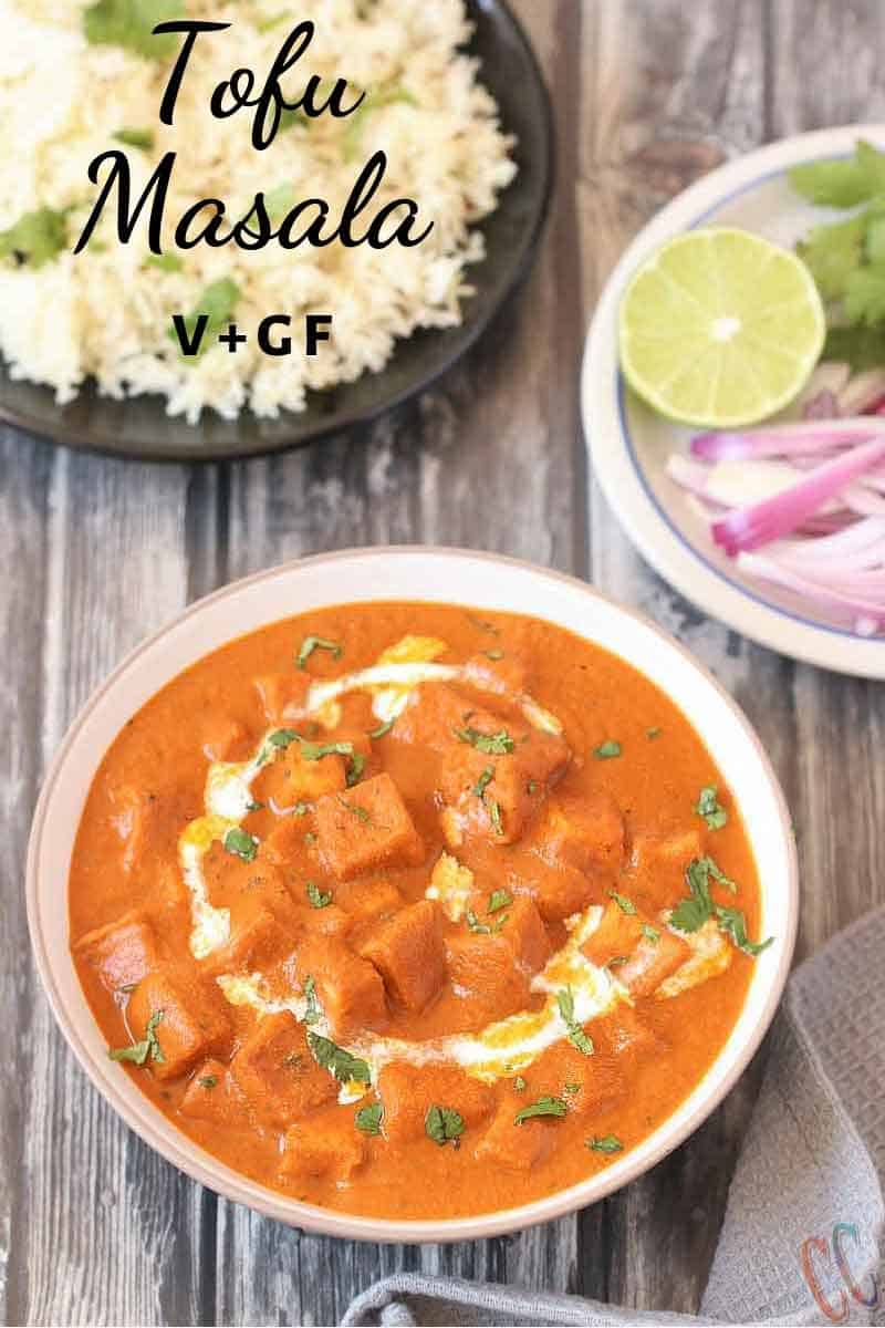 Instant Pot Tofu Tikka Masala - A delicious Gluten-free, Vegan Tofu in Indian Tomato Onion Based sauce recipe which gets ready in no time, is a perfect weeknight meal recipe and tastes best with Rice, Naan or any Indian Flat bread of your choice.