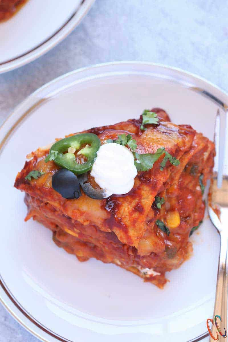Whether you call this recipe, Instant Pot Mexican Casserole, Instant Pot Mexican Lasagna Or Instant Pot enchiladas, this is super delicious, filling and easy to make. This instant Pot Mexican Recipe will have your family, specially your kids, raving and coming back for more!