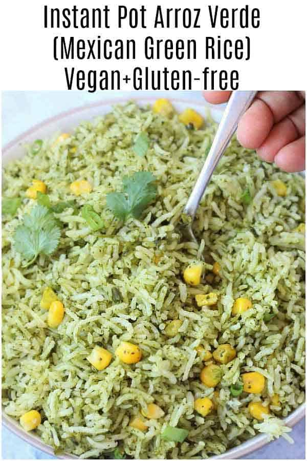 If you're looking for something new and vibrant with full of flavors to spice up your ordinary meal routine in just 15 minutes, try GF+V Arroz Verde Recipe.