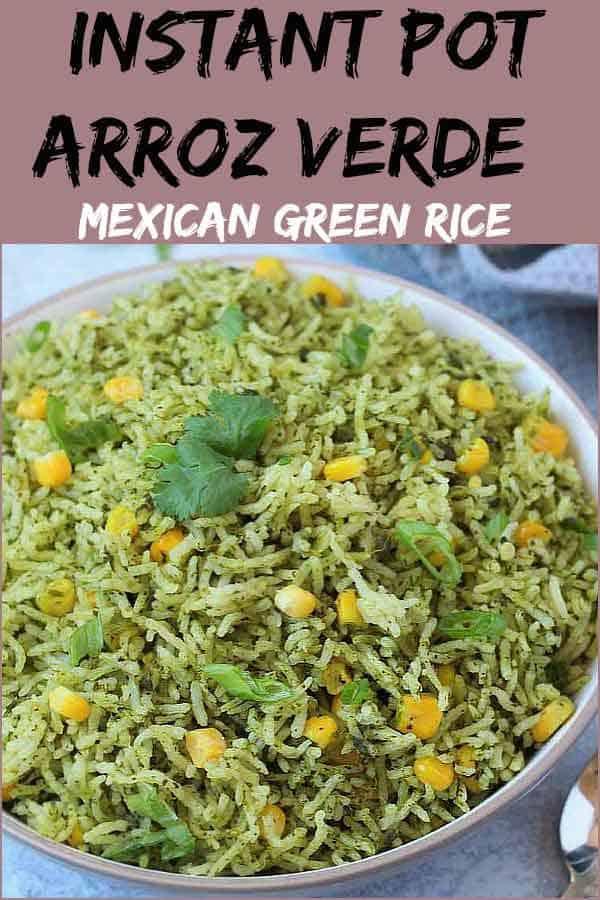 Instant Pot Mexican Green Rice (Arroz Verde)
