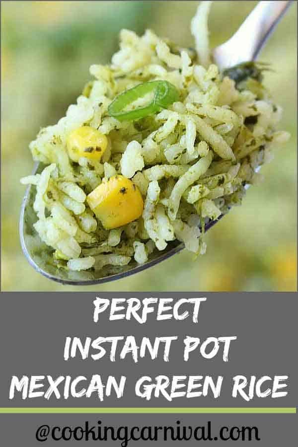 Instant Pot Arroz Verde (Mexican Rice)