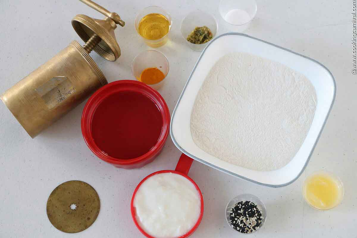 Ingredients for chakli / Murukku