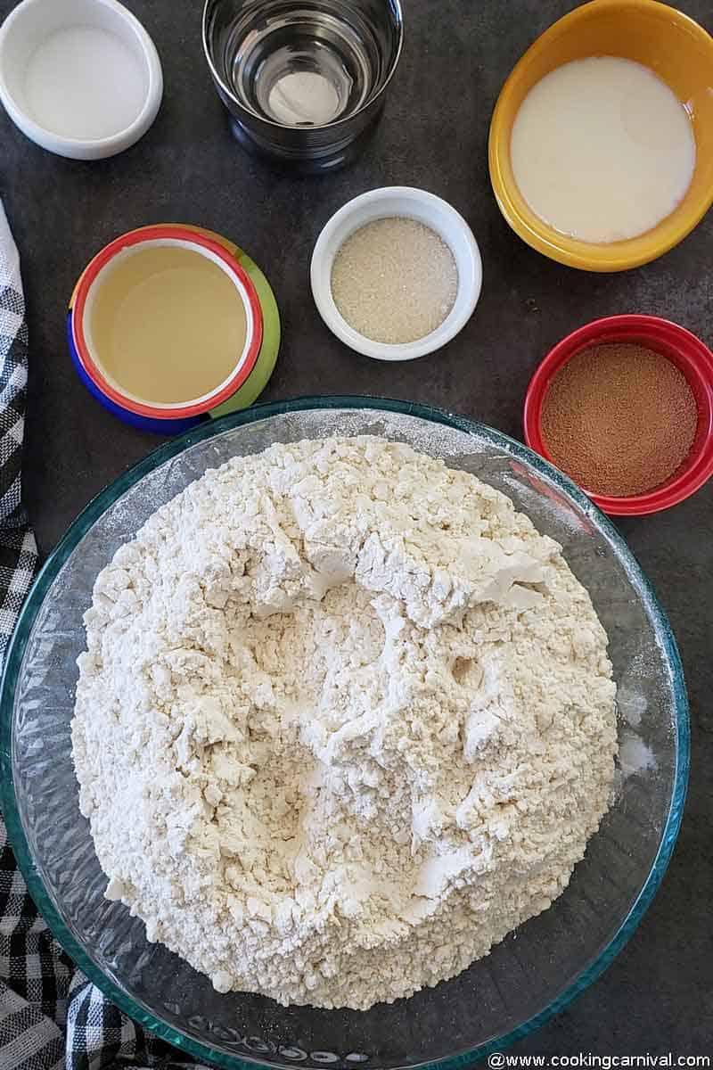 Ingredients of Homemade bowl