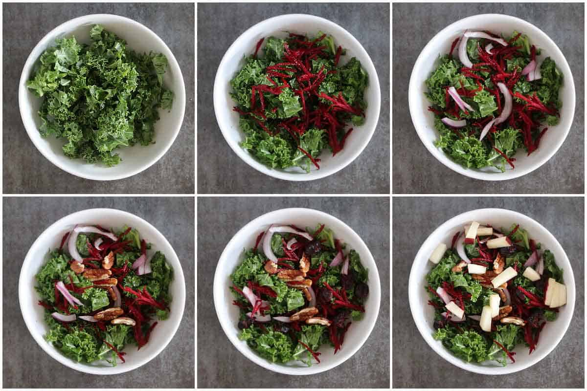 Step by step for autumn salad
