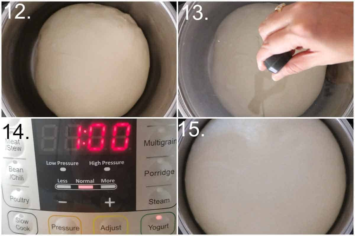 Proofing the bread bowl dough in instant pot