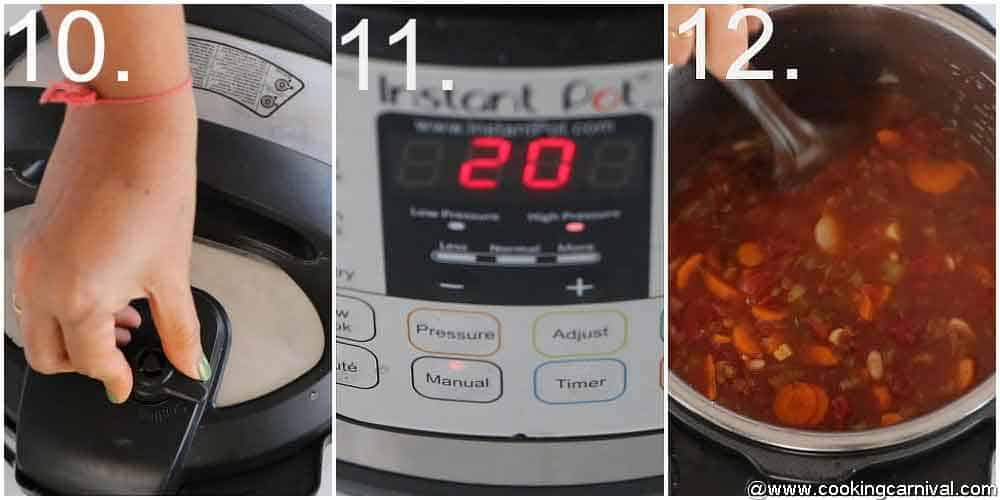 Step by step pic, 15 beans soup 2