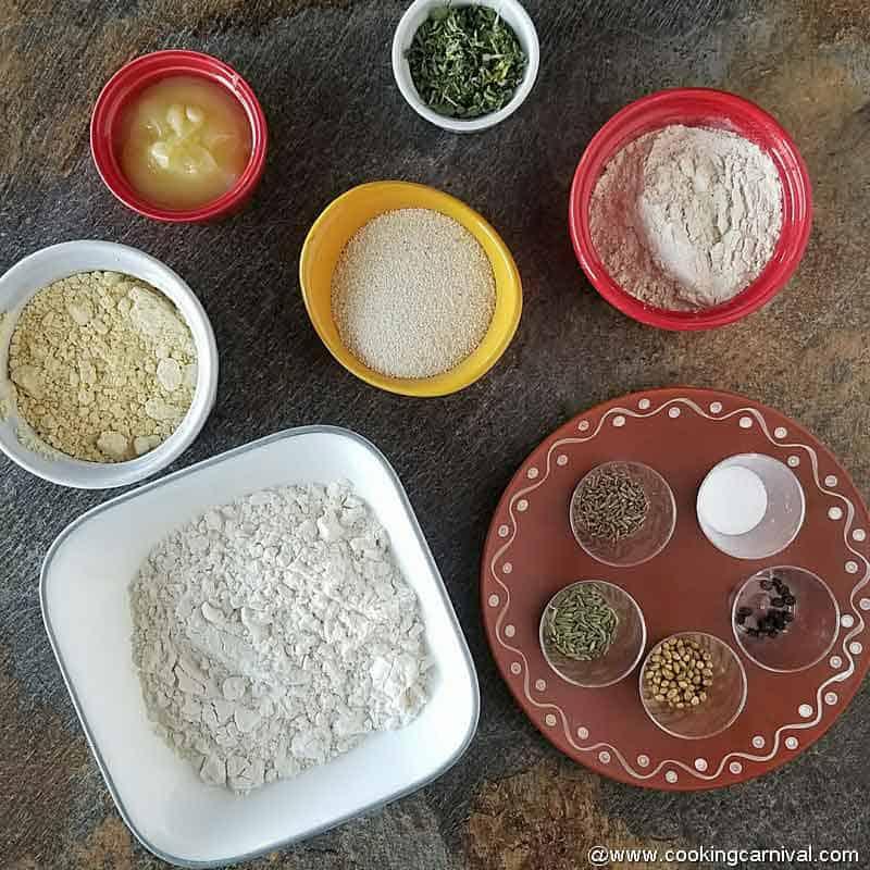 Mathri ingredients