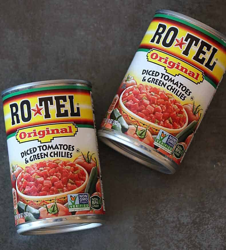 Rotel Tomatoes and chili