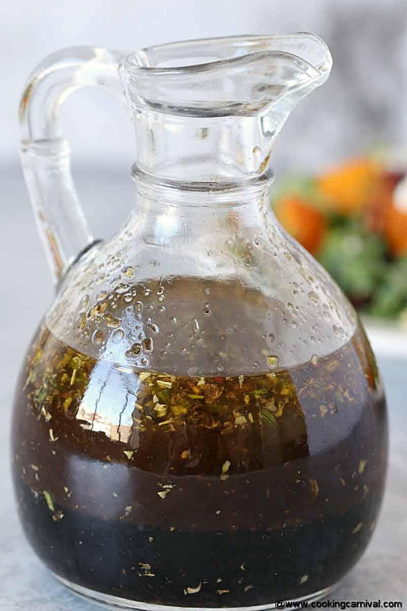 Balsamic Vinaigrette in a salad dressing bottle