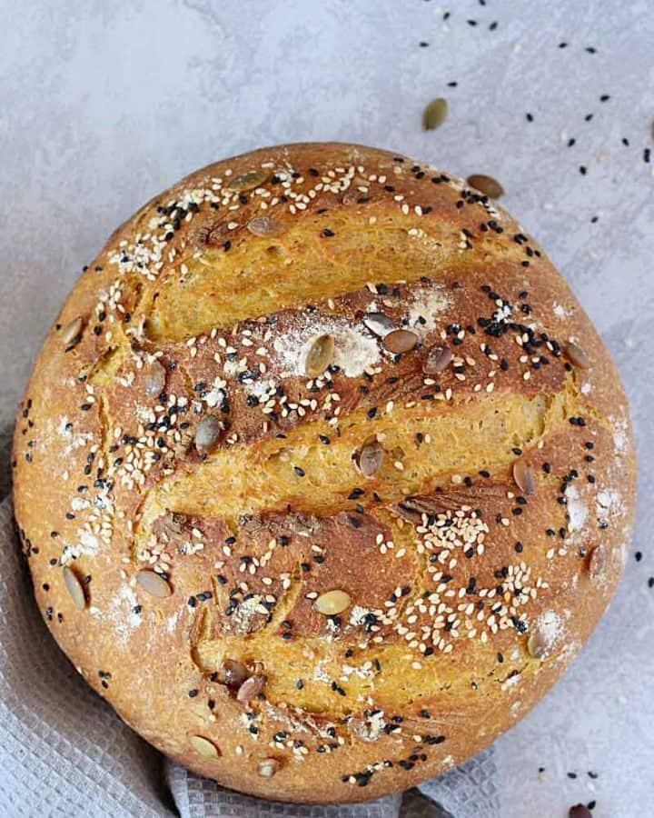 No knead Pumpkin bread proofed in instant pot