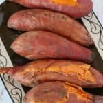 Sweet potatoes in a brown plate