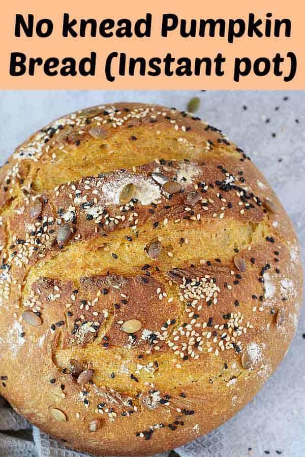 No knead pumpkin bread