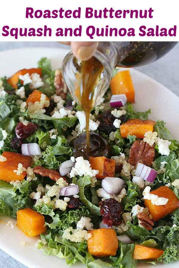 Roasted Butternut Squash and quinoa Salad recipe
