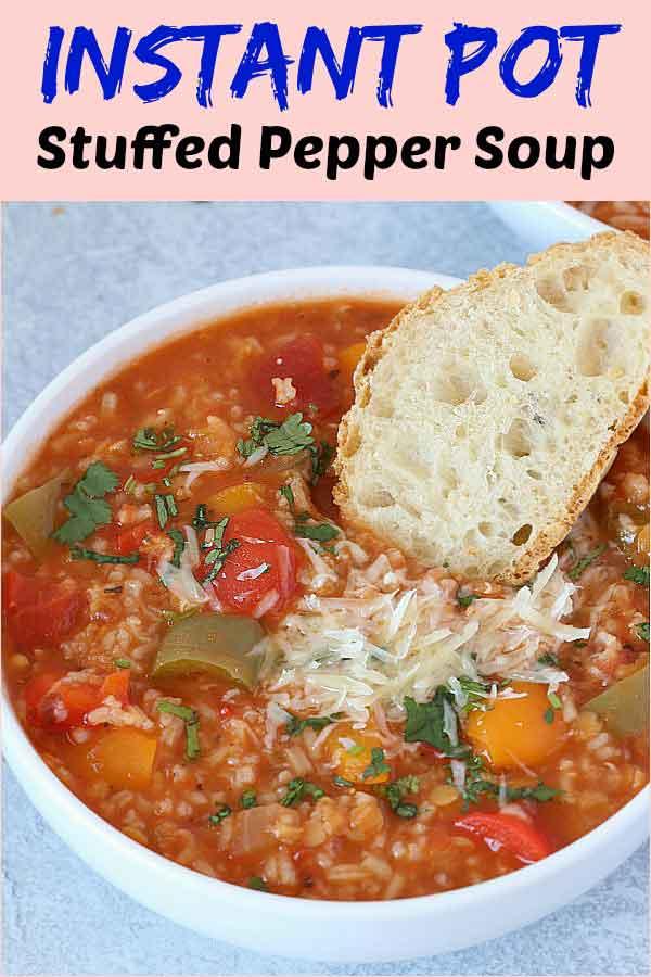 instant pot stuffed pepper soup recipe 3