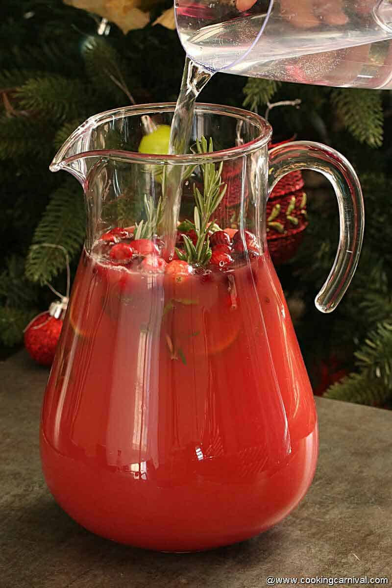 adding Sprite Winter Spiced Cranberry