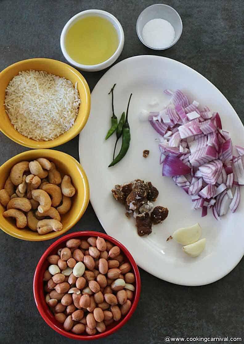 Ingredients for peanut chutney