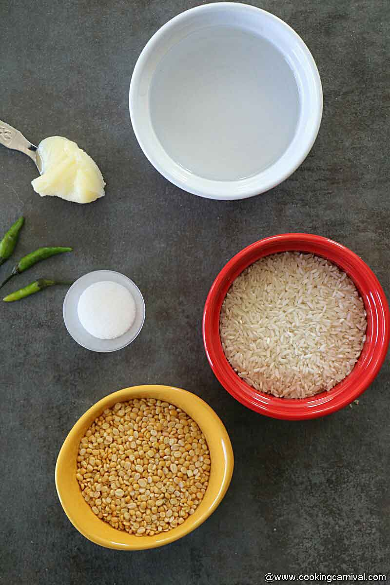 Ingredients for ven pongal 1
