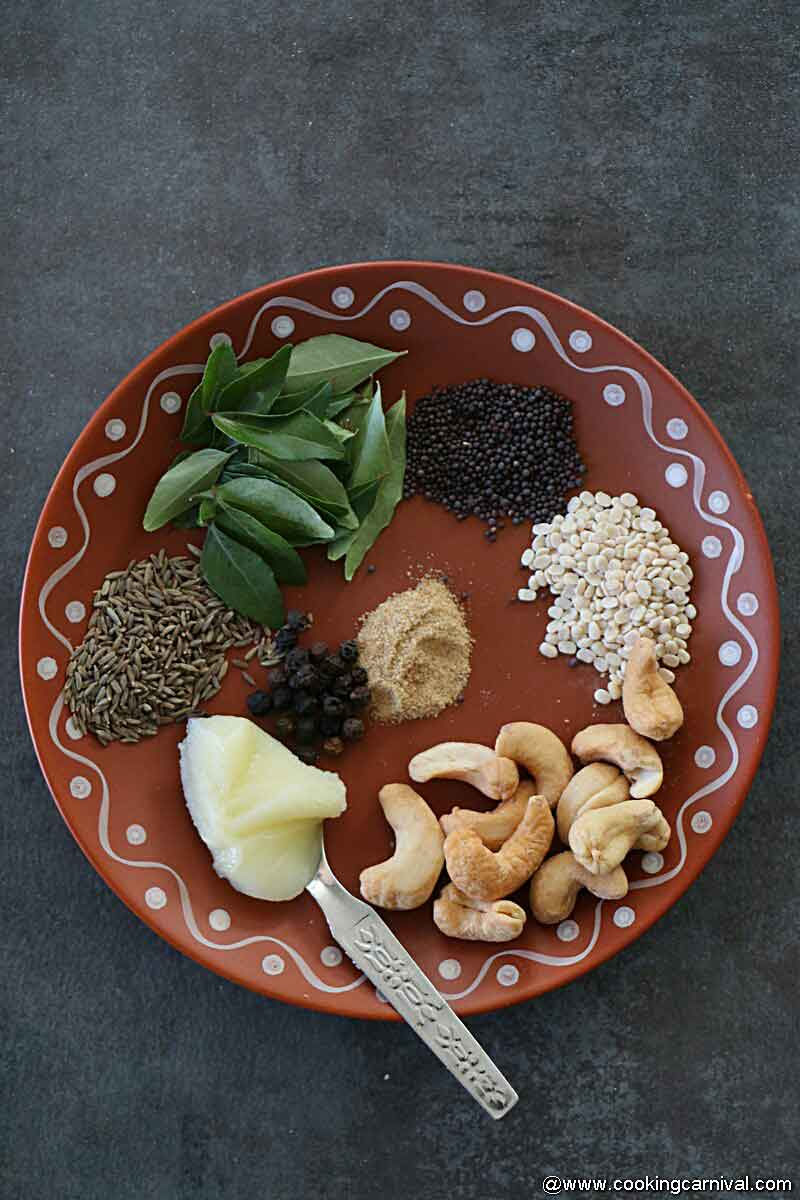 Ingredients for ven pongal