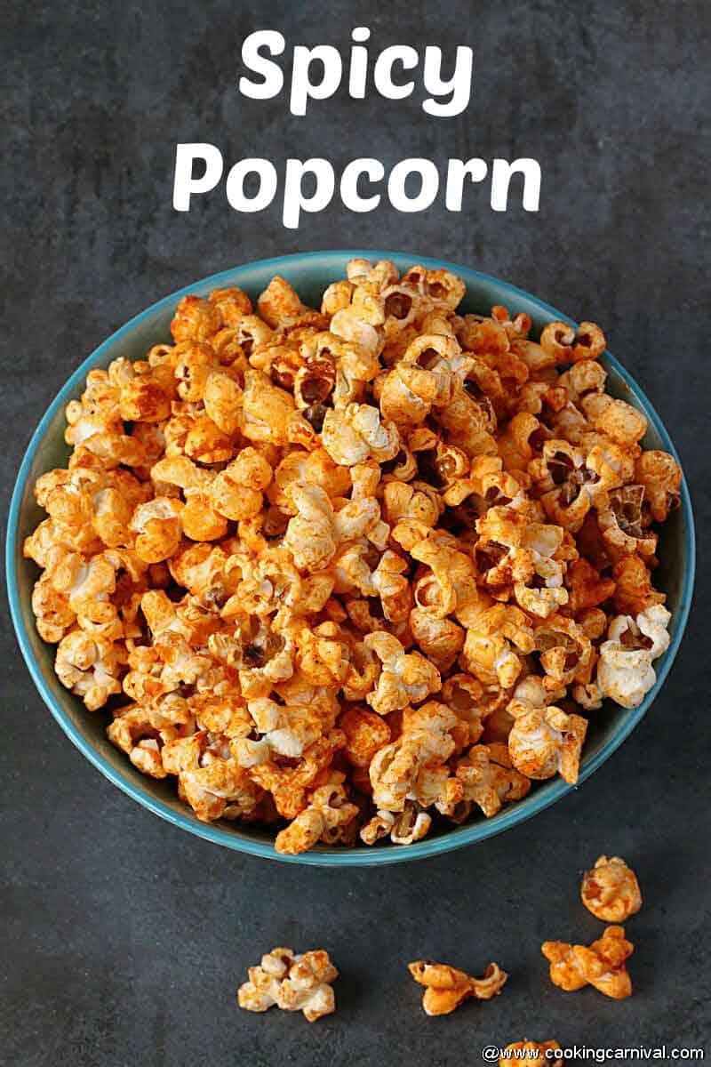Spicy popcorn final shot