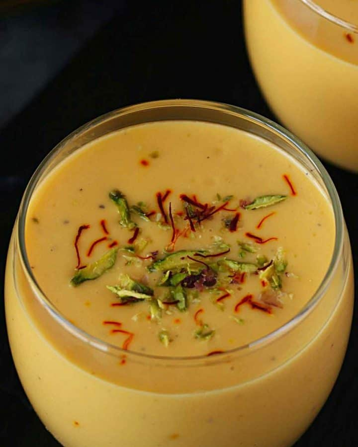 Indian mango drink served in glass