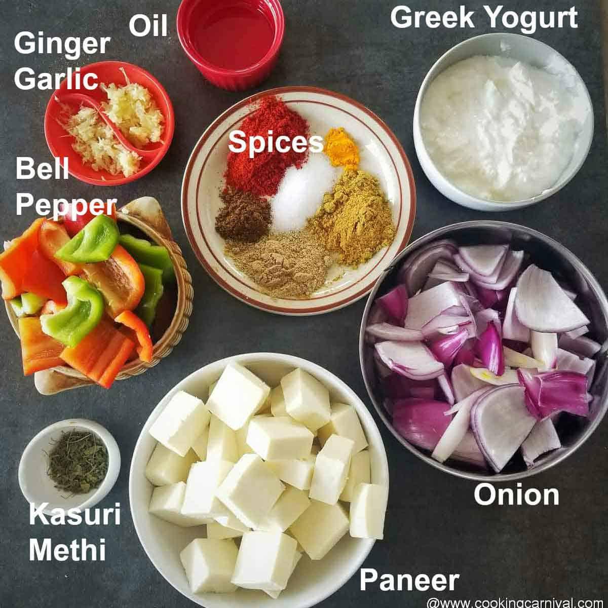 Pre-measure ingredients