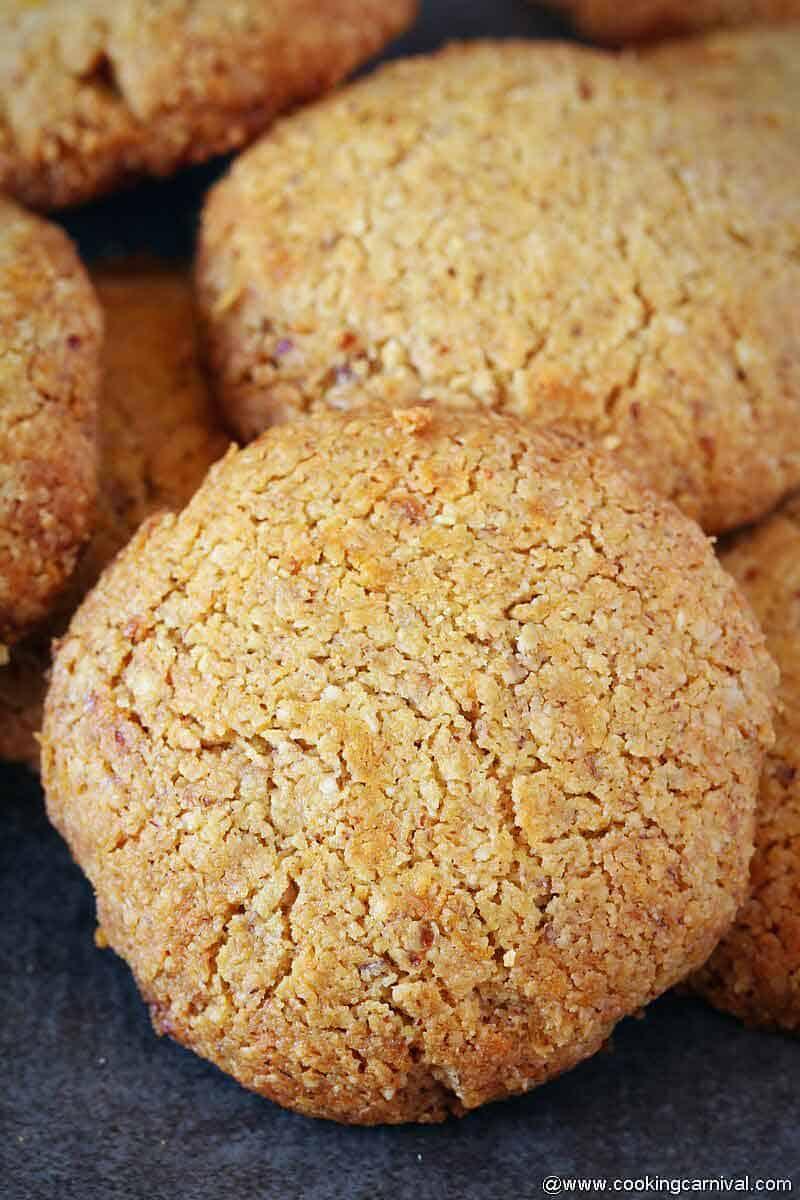 Close up shot of Oats aata cookies