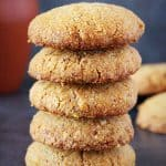 a stack of healthy oats cookies